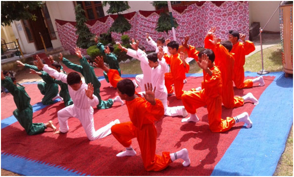 Inmates performing a cultural programme on Independence day.