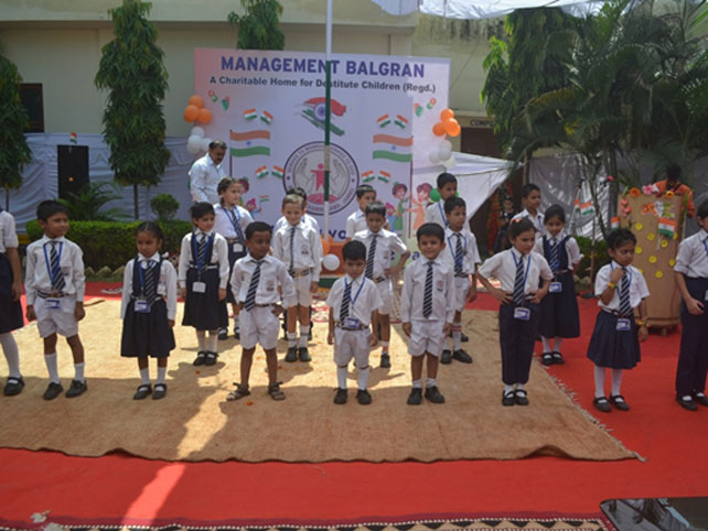 Small Children staging a Cultural Item on Independence Day